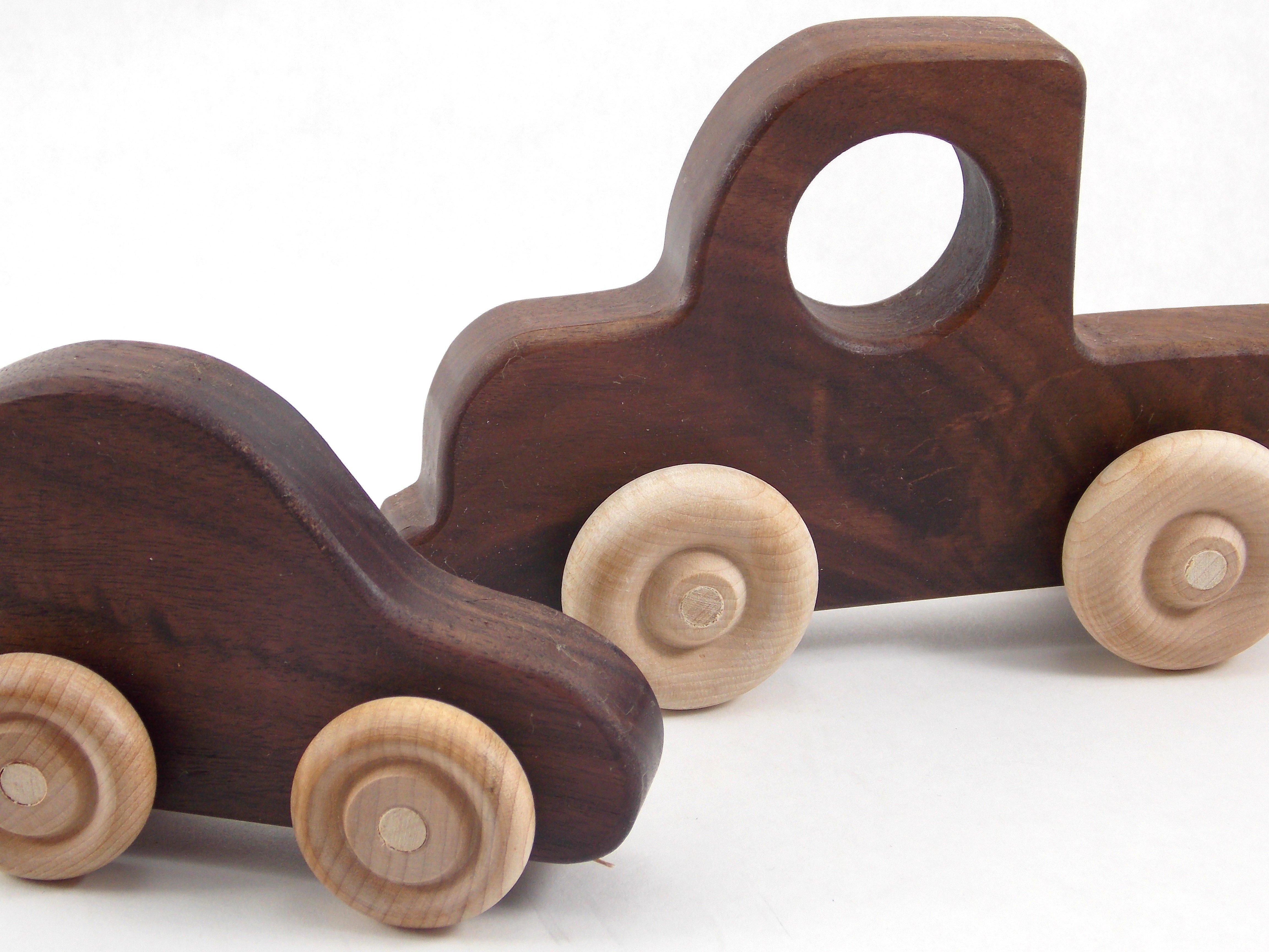 Organic Wood Toy Car